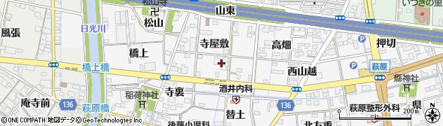 愛知県一宮市萩原町萩原周辺の地図