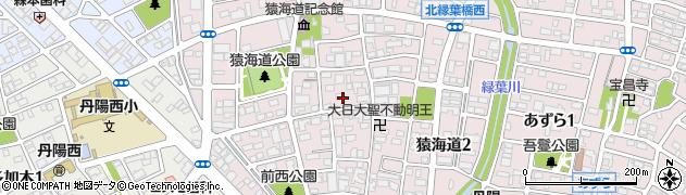 愛知県一宮市猿海道周辺の地図