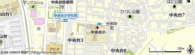 愛知県春日井市中央台周辺の地図