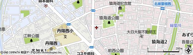愛知県一宮市丹陽町猿海道(七反田)周辺の地図