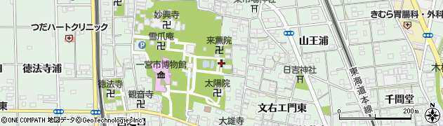愛知県一宮市大和町妙興寺(妙興寺境内)周辺の地図
