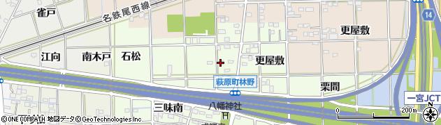 愛知県一宮市萩原町林野(宮浦)周辺の地図