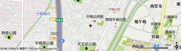 愛知県一宮市平島周辺の地図