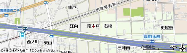 愛知県一宮市萩原町河田方(南木戸)周辺の地図