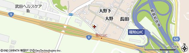 京都府福知山市大野下周辺の地図