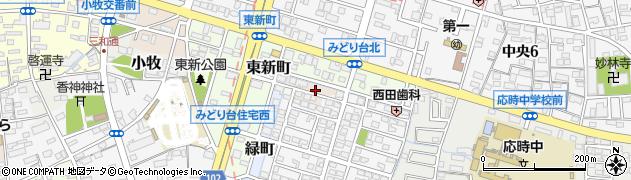 愛知県小牧市北外山入鹿新田周辺の地図