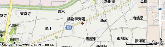 愛知県一宮市丹陽町重吉(鋳物師海道)周辺の地図