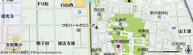 愛知県一宮市大和町妙興寺(耕雲西)周辺の地図