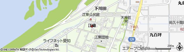 愛知県一宮市東加賀野井(江東)周辺の地図