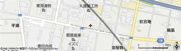 愛知県一宮市明地(井之内)周辺の地図