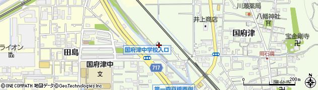 神奈川県小田原市国府津周辺の地図