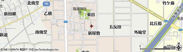 愛知県一宮市千秋町塩尻(新屋敷)周辺の地図