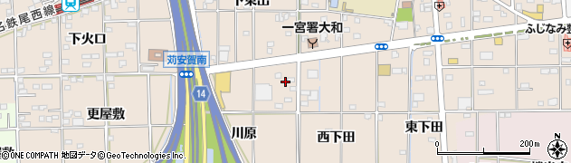 愛知県一宮市大和町苅安賀(川原)周辺の地図