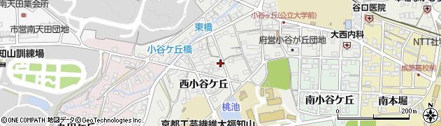 京都府福知山市西小谷ケ丘周辺の地図