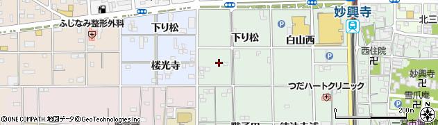愛知県一宮市大和町妙興寺(下り松)周辺の地図