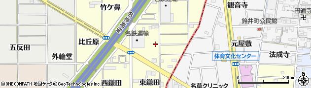 愛知県一宮市千秋町町屋(蕪池)周辺の地図
