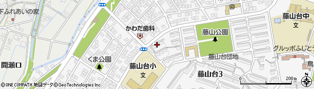 愛知県春日井市藤山台周辺の地図