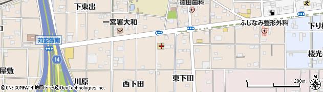 愛知県一宮市大和町苅安賀(東下田)周辺の地図