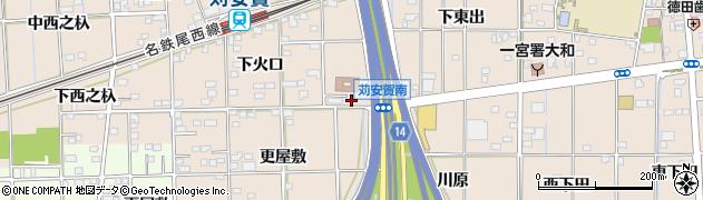 愛知県一宮市大和町苅安賀(東更屋敷)周辺の地図