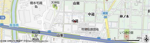 愛知県一宮市萩原町萩原(中道)周辺の地図