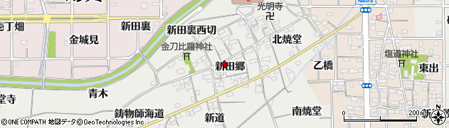 愛知県一宮市丹陽町重吉(新田郷)周辺の地図