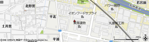 愛知県一宮市明地(南茱之木)周辺の地図