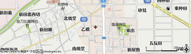 愛知県一宮市千秋町塩尻(乙橋)周辺の地図