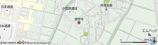 西本願寺末常念寺周辺の地図
