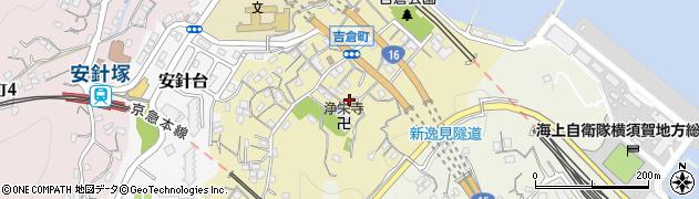 神奈川県横須賀市吉倉町周辺の地図