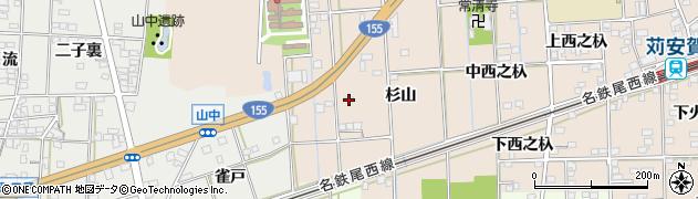 愛知県一宮市大和町苅安賀(杉山)周辺の地図