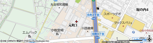 愛知県小牧市元町周辺の地図