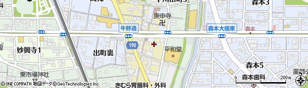 花水蓮周辺の地図