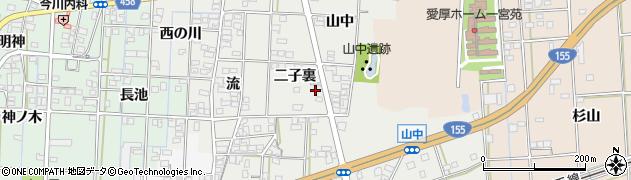 愛知県一宮市萩原町富田方(二子裏)周辺の地図