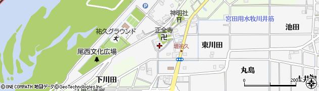 愛知県一宮市祐久(西川田)周辺の地図