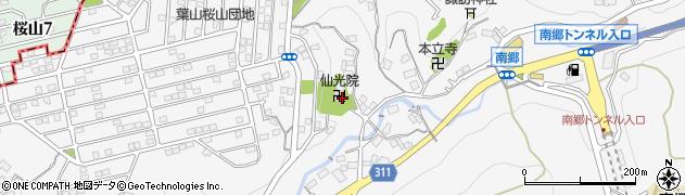 仙光院周辺の地図