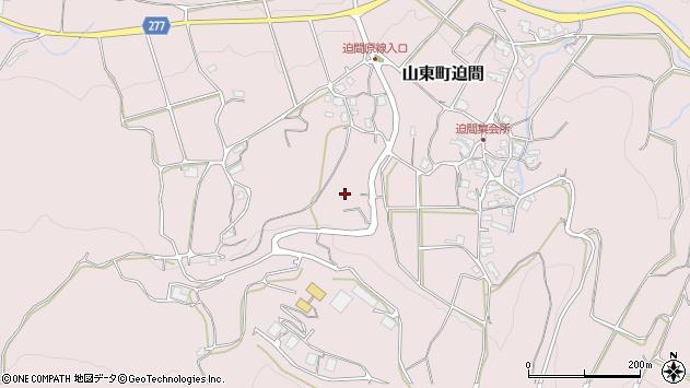 〒669-5134 兵庫県朝来市山東町迫間の地図