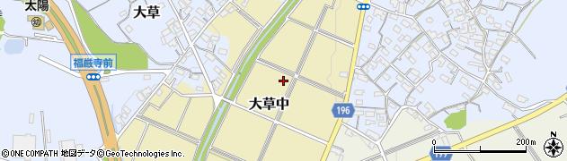 愛知県小牧市大草中周辺の地図