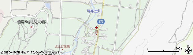 兵庫県朝来市山東町森周辺の地図