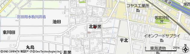 愛知県一宮市祐久(北野黒)周辺の地図