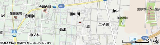 愛知県一宮市萩原町富田方(西の川)周辺の地図