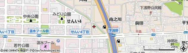 愛知県一宮市浅野(駒寄)周辺の地図