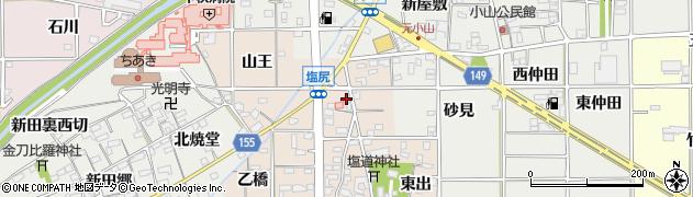 愛知県一宮市千秋町塩尻(北出)周辺の地図