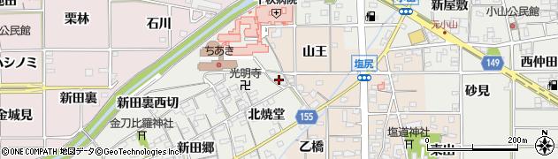 愛知県一宮市丹陽町重吉(新田裏東切)周辺の地図