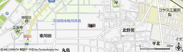 愛知県一宮市祐久(池田)周辺の地図