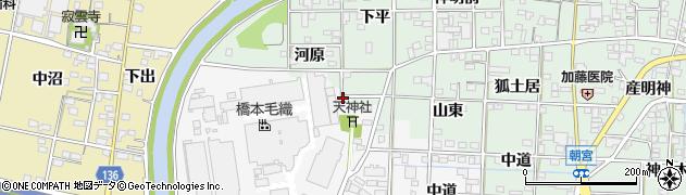 愛知県一宮市萩原町萩原(北方)周辺の地図