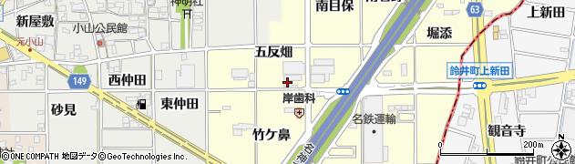 愛知県一宮市千秋町町屋(五反畑)周辺の地図