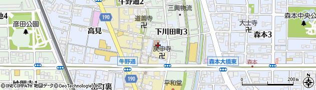 愛知県一宮市一宮周辺の地図