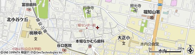 京都府福知山市本堀周辺の地図