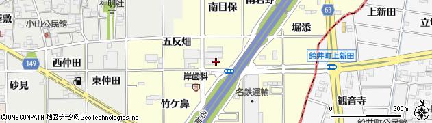 愛知県一宮市千秋町町屋(南目保)周辺の地図