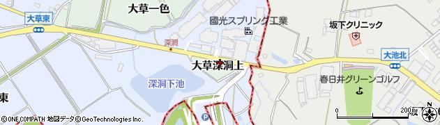 愛知県小牧市大草深洞上周辺の地図
